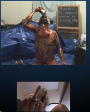 Then dump the last of the container on his head, covering the dick-face mask he was wearing
