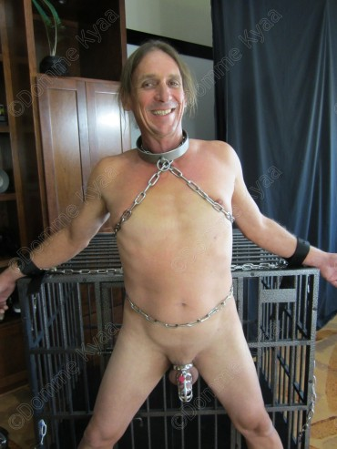 My bitch confessed to getting horny while we chained him up, but he did not know what was to come...