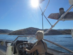 But not as beautiful as having Princess Rene as your personal boat driver!