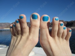 A close up of the blue pedicure I wore in Vegas last week.