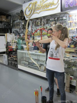 The archery instructor had a very lucky day!