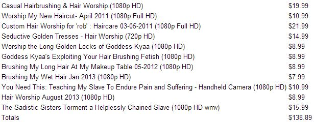 Someone loves my hair! Go collect a bunch of clips from 1 category in an order, checkout and know that I'm smiling as I read your clip sales notification.