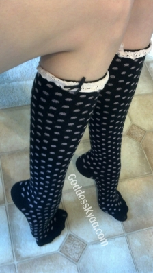 To worship my polka dot socks is more than you deserve!