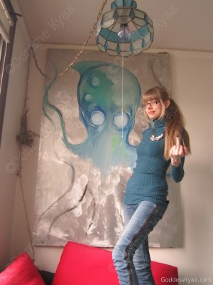 SPECIAL EASTER EGG IN THIS PICTURE! Not so hidden, either. Why is that unfinished cephalopod painting behind me important? What does it mean?