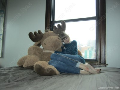 Meet Molly the stuffed moose. She's the most comfortable moose I've ever cuddled.  *Note, I have not cuddled many moose.*