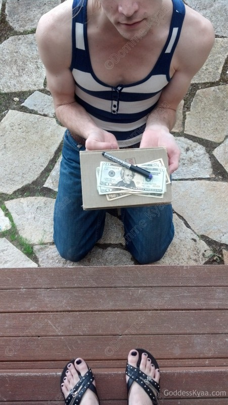 A cash tribute and two gifts, given to me when he arrived for his day of service and submission.